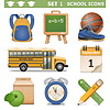 Vector School Icons Set  | Stock Vector Graphics