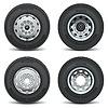 Vektor-Icons von Lkw-Reifen