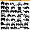 Landwirtschaftlichen Traktor Piktogramme