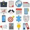Векторный клипарт: Плоские Icons - Бизнес