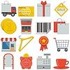 Flach Icons - Einzelhandel