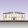 Фасад жилого дома | Векторный клипарт