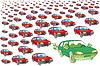 Ekologiczny samochód | Stock Illustration
