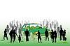Ökologische Auto | Stock Illustration