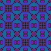 Bezszwowych Fractal wzór w kolorze niebieskim | Stock Illustration