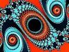 Dekoracyjny fraktalna w czerwieni - kolor niebieski | Stock Illustration