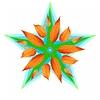 Dekoracyjny gwiazda jesień na białym tle | Stock Illustration