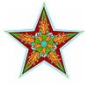 Dekoracyjny jesień zodiaku na białym tle | Stock Illustration