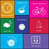 Gesunde Lebensweise iconΠ| Stock Vektrografik