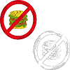 No gamburger | Stock Vector Graphics