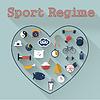 Sport-Ikone | Stock Vektrografik