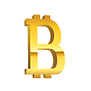 Złoty symbol waluty Bitcoin | Stock Vector Graphics