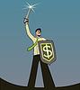 Векторный клипарт: бизнесмен рыцарь