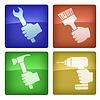 Векторный клипарт: иконки работника