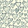 Nahtlose Muster mit dekorativen Herzen Umriss | Stock Vektrografik