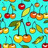 장식 달콤한 체리와 원활한 패턴 | Stock Vector Graphics