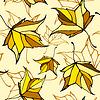 Nahtlose Muster mit stilisierten Blätter fallen