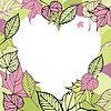 Herz-förmigen Rahmen der Blätter im Herbst. Romantik