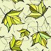 Patrón sin fisuras con las hojas decorativas estilizadas | Ilustración vectorial