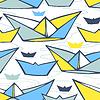 Nahtlose Muster mit bunten Papierschiffe