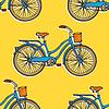 Nahtlose Muster mit bunten Vintage-Fahrräder