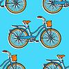 Nahtlose Muster mit bunten Vintage-Fahrräder.