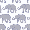 실루엣 코끼리와 원활한 패턴 | Stock Vector Graphics