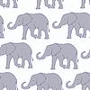 Nahtlose Muster mit Silhouette Elefanten | Stock Vektrografik