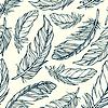 장식 깃털으로 원활한 패턴 | Stock Vector Graphics