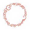 Lockig doodle Rahmen. Vorlage für Ihr Design | Stock Vektrografik