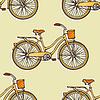 Nahtlose Muster mit Vintage-Fahrrädern