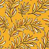 개요 가지와 꽃 원활한 패턴 | Stock Vector Graphics