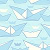 Nahtlose Muster mit bunten Papierschiffe.