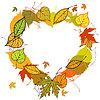 Herzförmigen Kranz der Blätter im Herbst gemacht