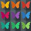 Flach Stil nahtlose Muster mit Schmetterlingen | Stock Vektrografik