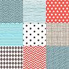 Set von 9 gemalt geometrischen Mustern nahtlose