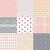 Set von 9 gemalt geometrischen Mustern nahtlose | Stock Vektrografik