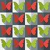 Векторный клипарт: Квартира в стиле бесшовные модели с бабочками