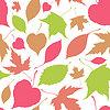 Векторный клипарт: бесшовный фон с падающими листьями