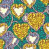 Векторный клипарт: Бесшовные с каракули сердца