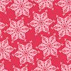 Векторный клипарт: Бесшовные с декоративными снежинками