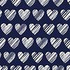Векторный клипарт: Бесшовный узор с сердцами