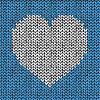 Векторный клипарт: Бесшовные с вязаной сердце