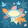 Векторный клипарт: Декоративная рамка с падающими листьями