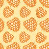 Векторный клипарт: Бесшовные с декоративными малины