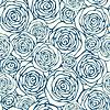 Векторный клипарт: Бесшовные с контурных роз