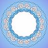 Векторный клипарт: Декоративная круглая рамка с ракушками