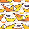 Nahtlose Muster mit Papier Schiffe