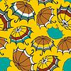 Векторный клипарт: Бесшовные с декоративными зонтиками