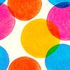 Векторный клипарт: Бесшовные с нарисованными акварелью кругах